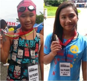 First Place Winners: Shanessa Chang (6-8yrs old) and River Gail Salonga (13-14 yrs old).