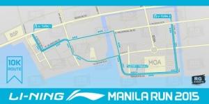 Li-Ning Manila Run 10k Route